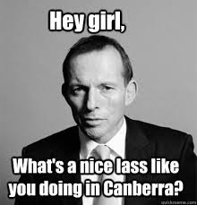 abbot why you in canberra